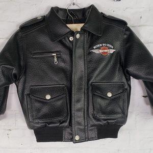 Harley-Davidson faux leather moto jacket 4T